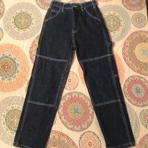 John Galt carpenter dark blue denim jeans